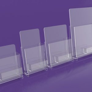 Brochure-Holders---Displaying-With-Business-card-pocket.