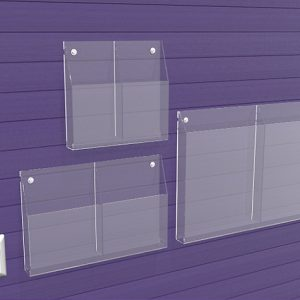 Brochure-Holders-Double-Pocket-Wall-Fixed