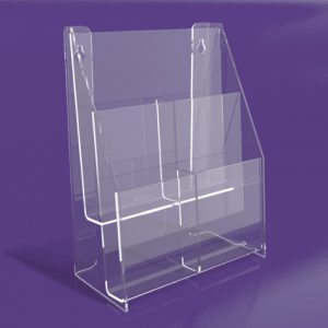 Brochure-Holders-Two-Tiered-Four-Pocket