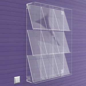 Brochure-Holders-Wall-Fixing-9-Pocket-Display-frame