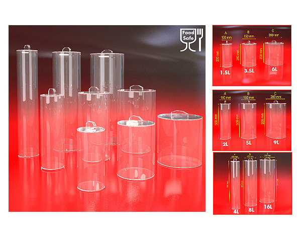 Container-Box-Clear-Tubing